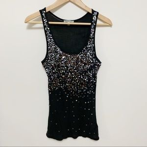 2/$20 Charlotte Russe Blue Sequin Tank Top